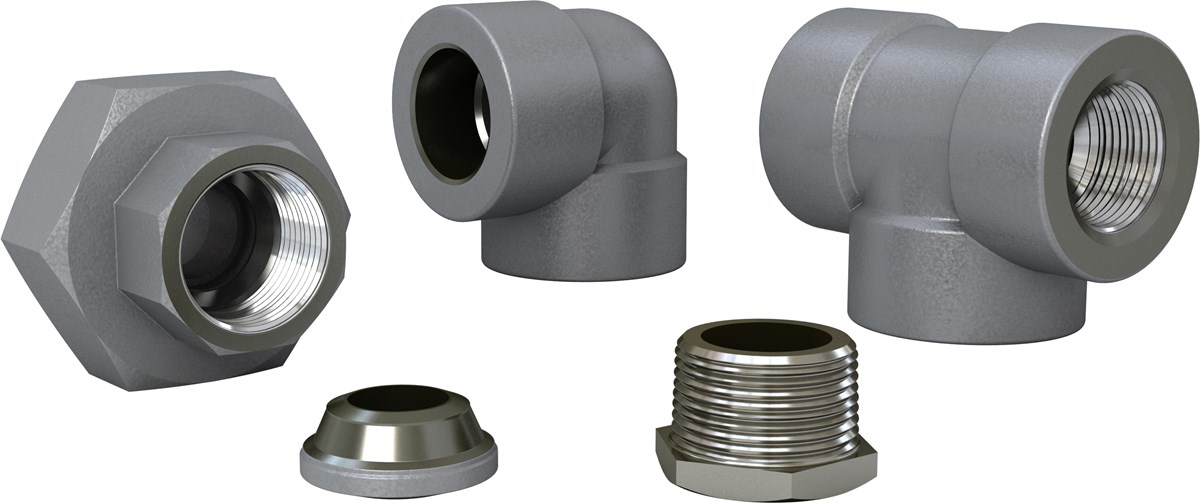 Stainless threaded fittings acc to asme — sandvik